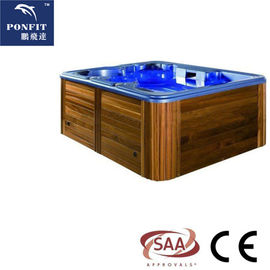 China Massage Function Whirlpool Spa Ton, Lucht Straal Freestanding Openluchtbadkuip fabriek